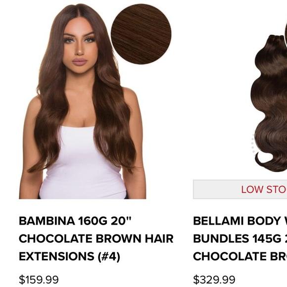 "BELLAMI Accessories - BELLAMI chocolate brown 20"" hair extensions 5b32d03cb0"